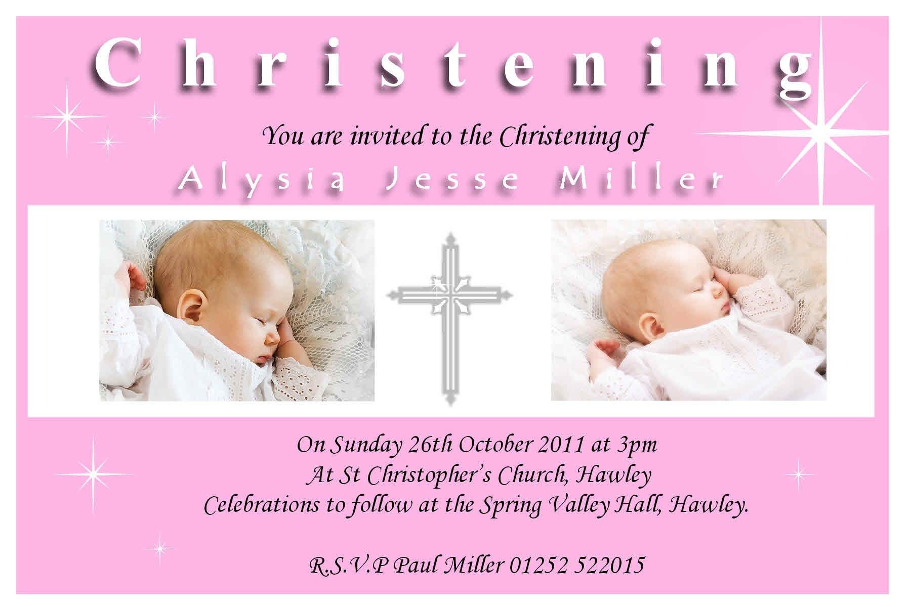 Baptismal Invitation Sample Free Download 3