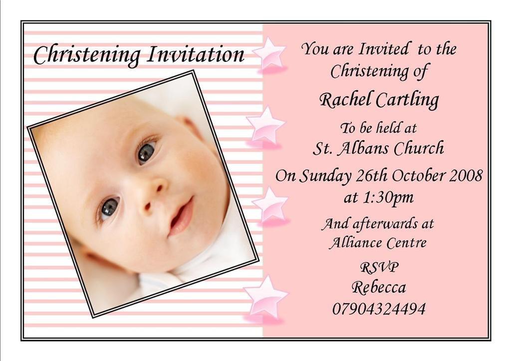 Baptismal Invitation Sample Free Download 4