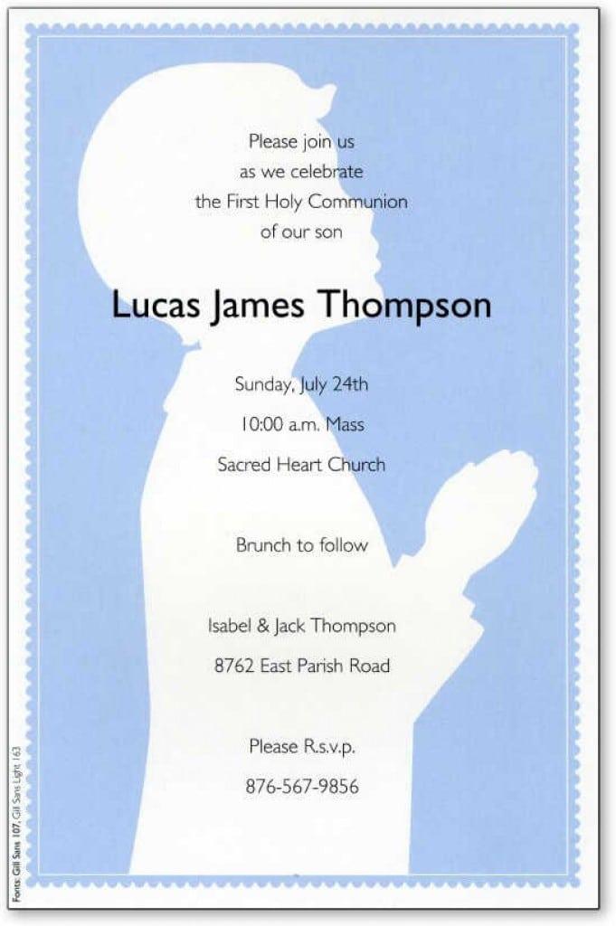 Baptismal Invitation Sample Free Download