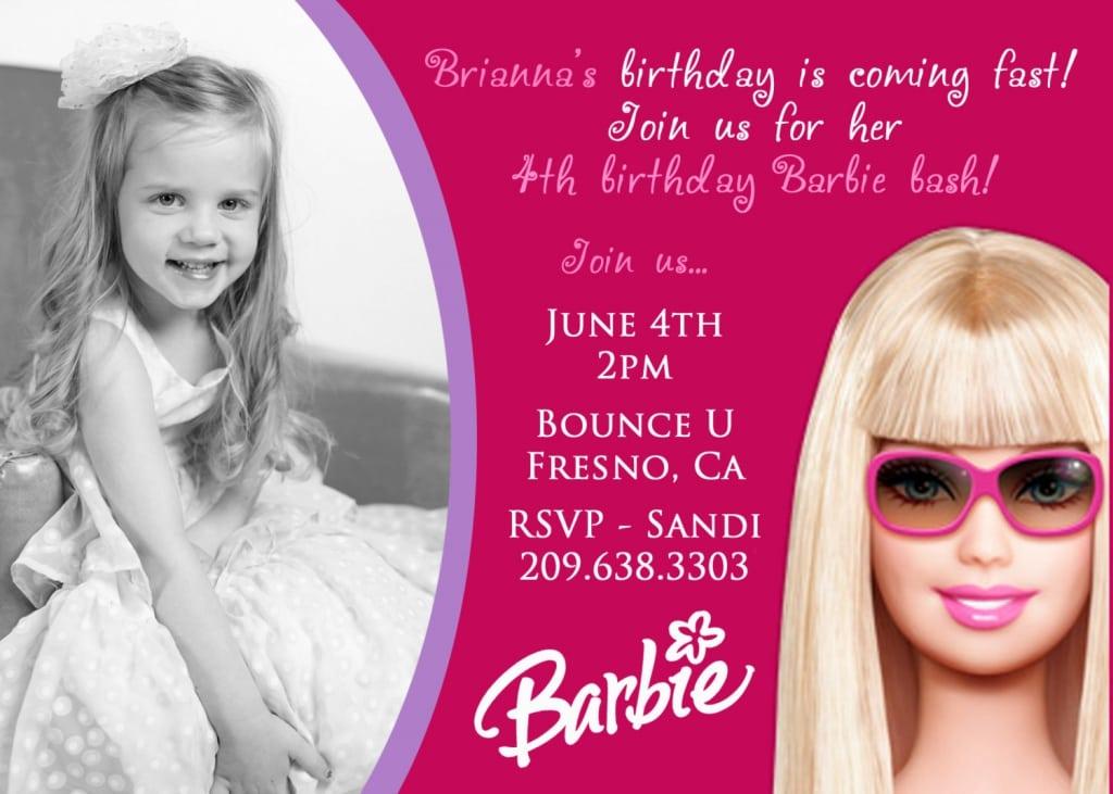 Barbie Bday Invitations
