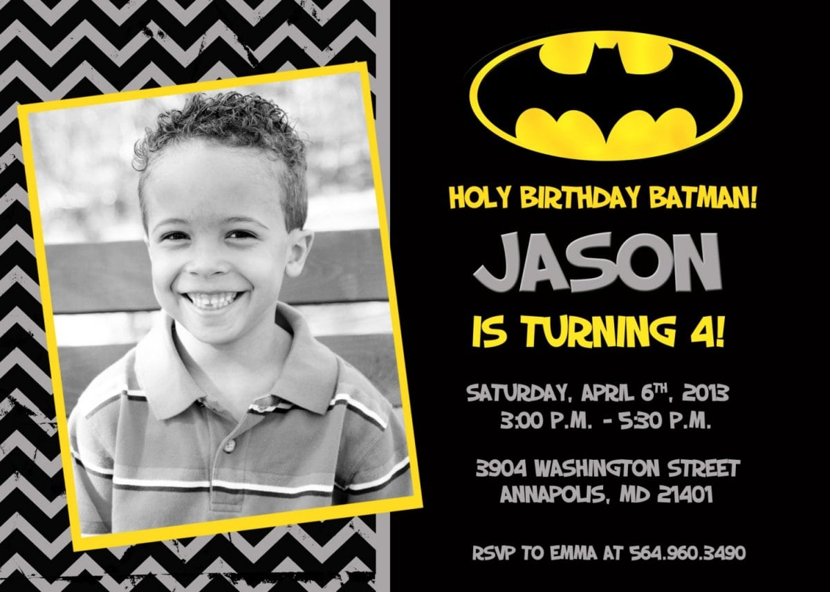 Batman Party Invitations Free