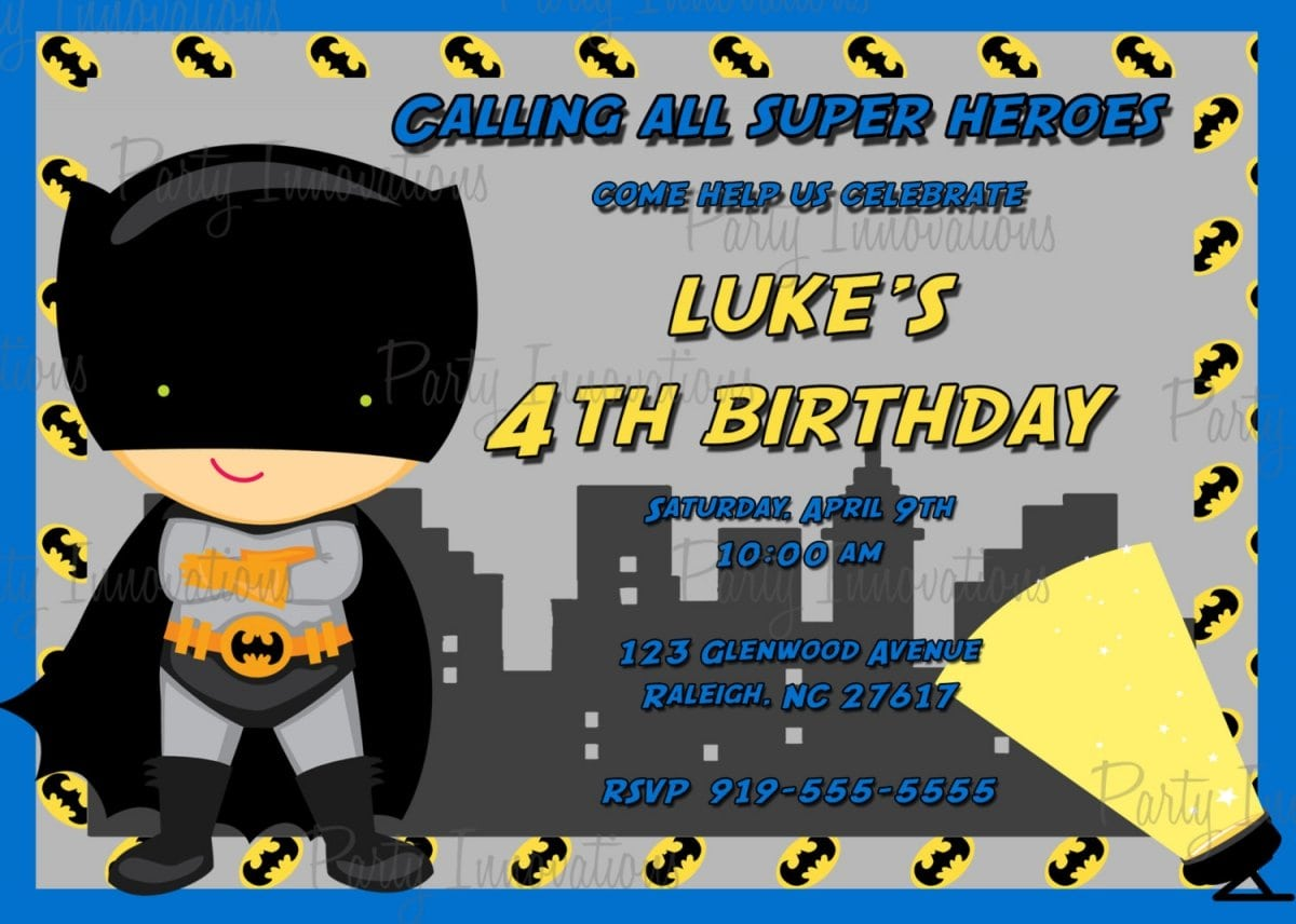 Batman Party Invitations Free Printable