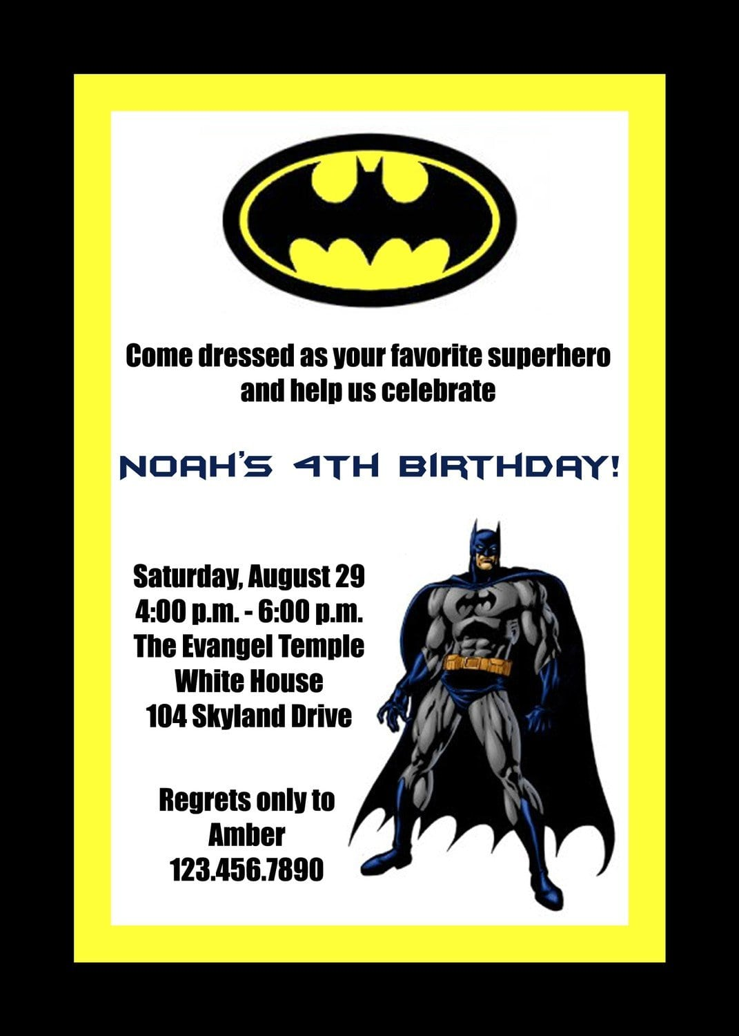 Batman Party Invitations and get inspiration to create nice invitation ideas