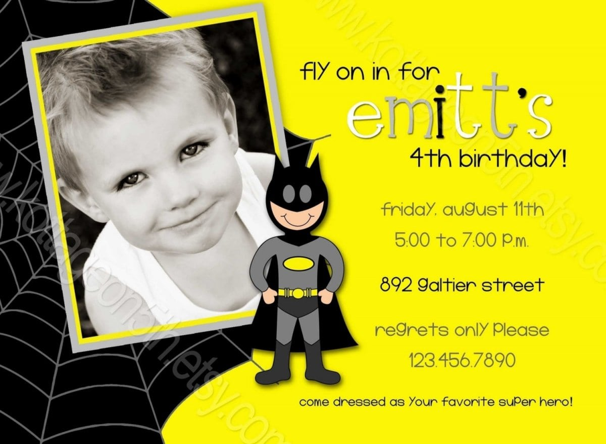Batman Party Invitations Uk