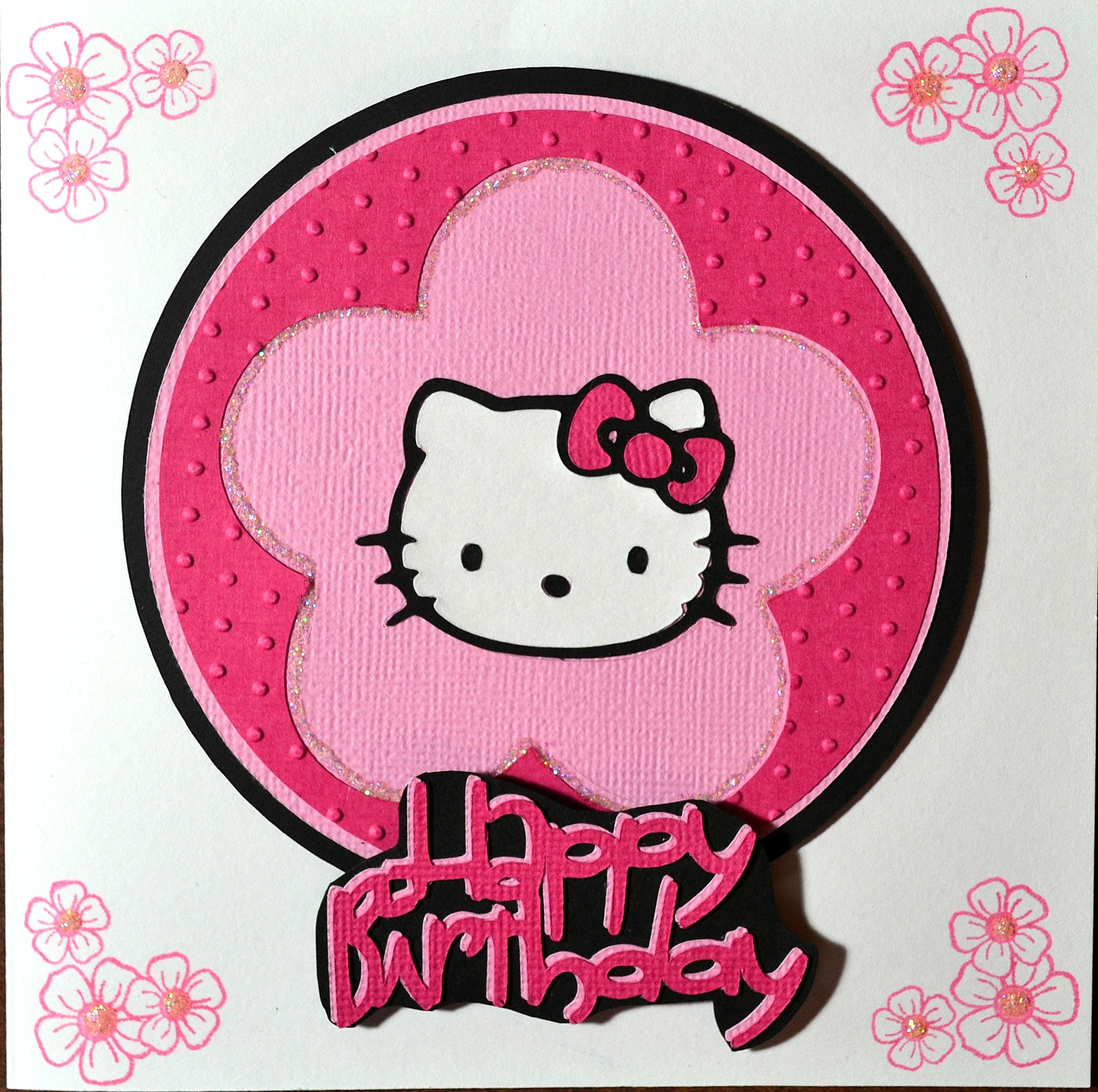 Birthday Invitation Hello Kitty Template 3