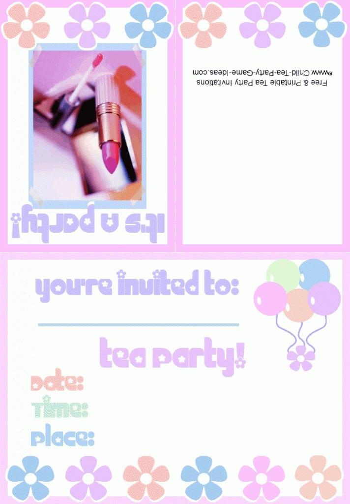 Birthday Invitation Templates Printable Free Princess 4