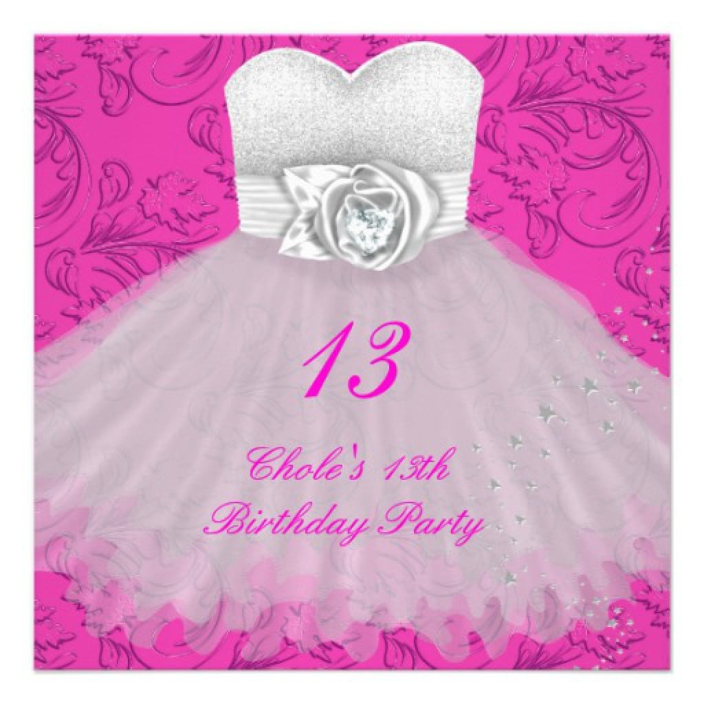 Birthday Invitations For Girls 13