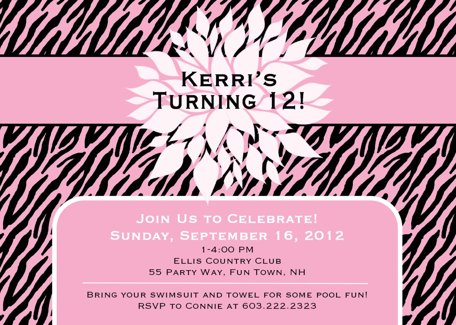 Birthday Invitations For Young Girls