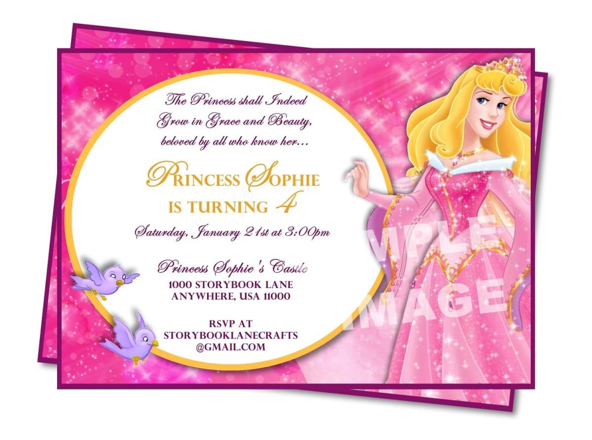 Birthday Invitations Format