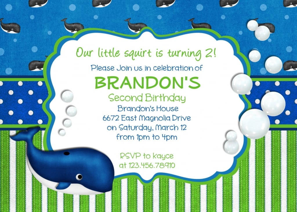 Birthday Invitations Template For Boys