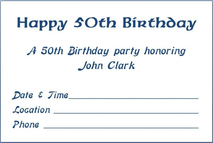 email birthday invitations templates free