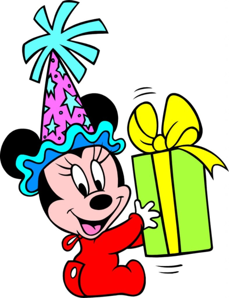 Blank Baby Minnie Mouse Invitations 2