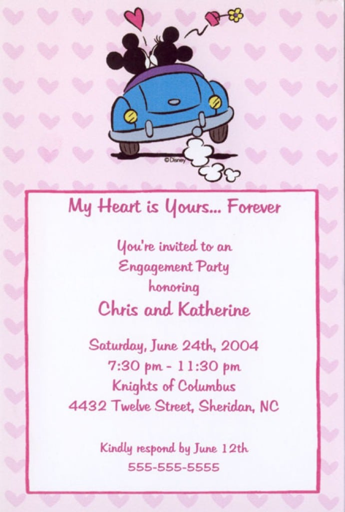 Blank Baby Minnie Mouse Invitations 5