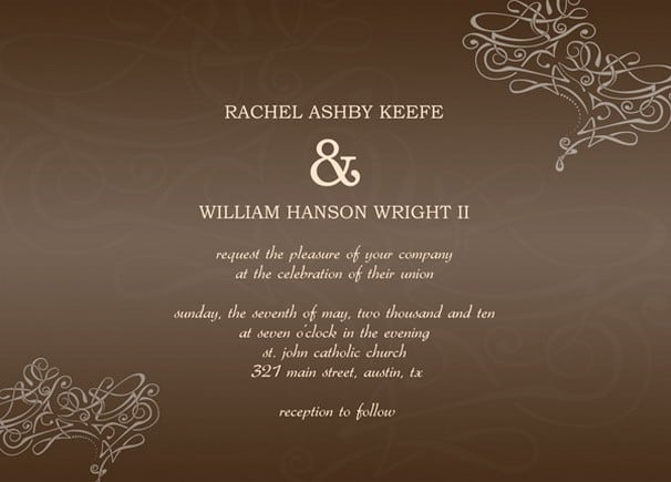 Blank Formal Invitation Template 4