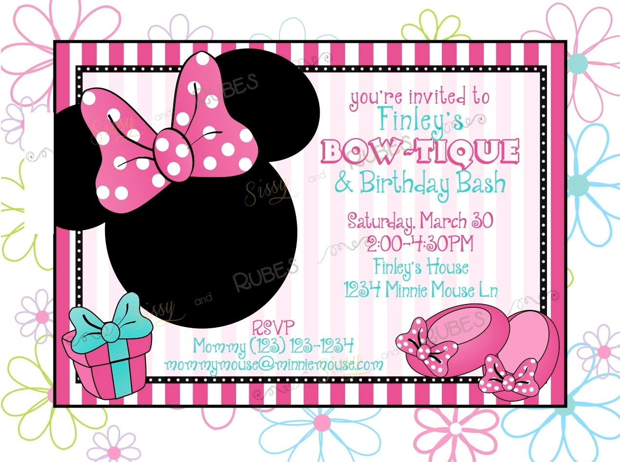 Blank Mickey Mouse Invitation Template 5