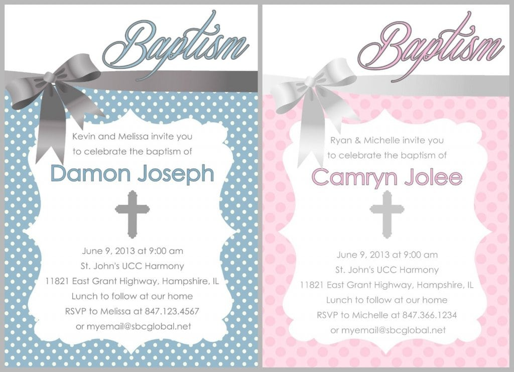 Boy Baptism Invitations Etsy