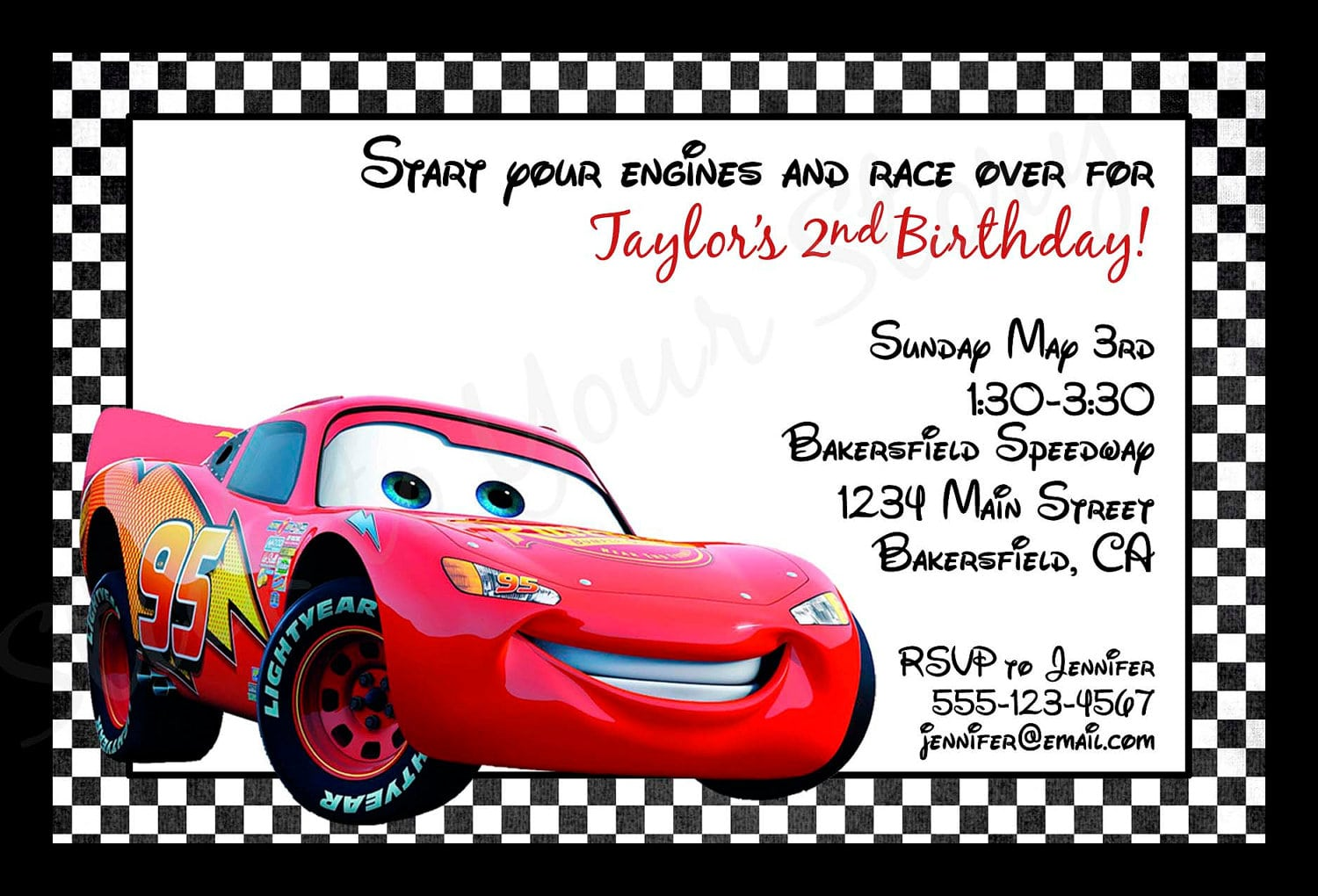 Cars Party Invitation