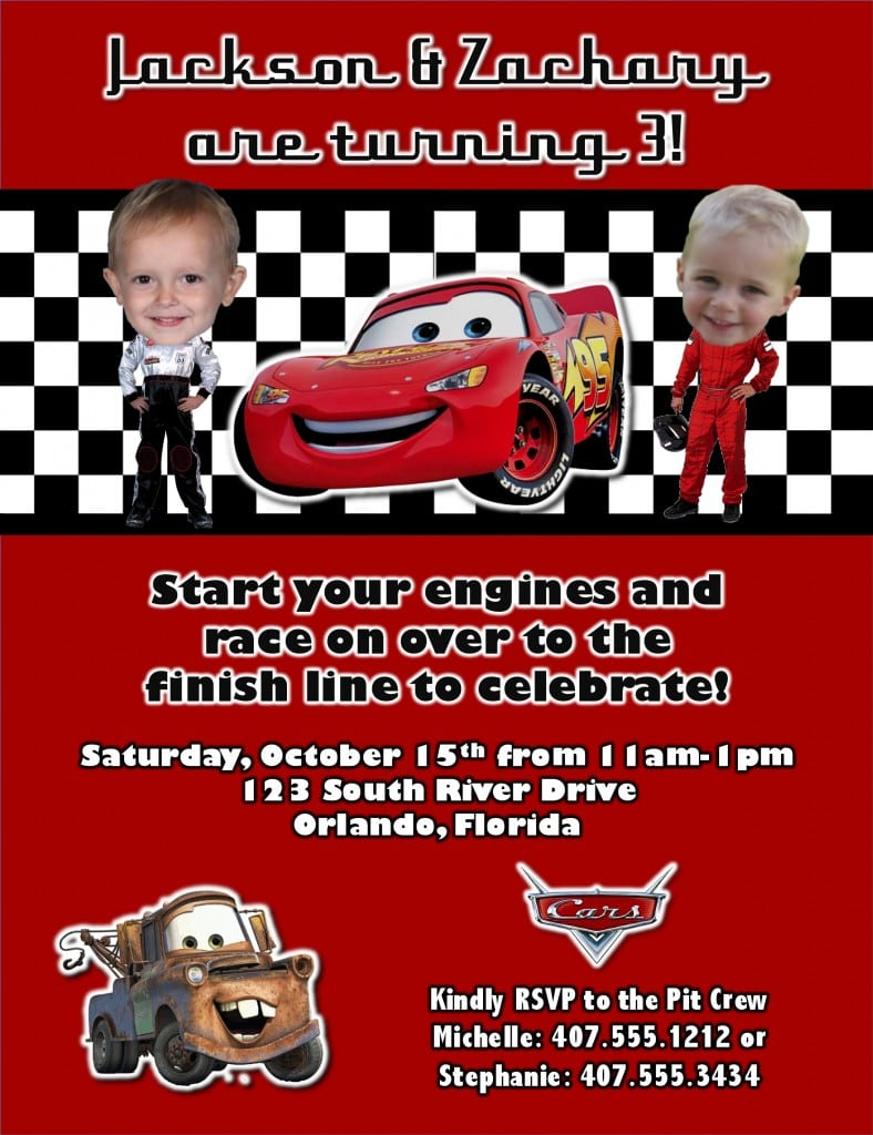 Cars Party Invitation Wording