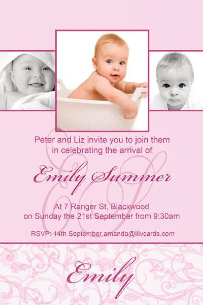 Christening Invitation For Girls 4