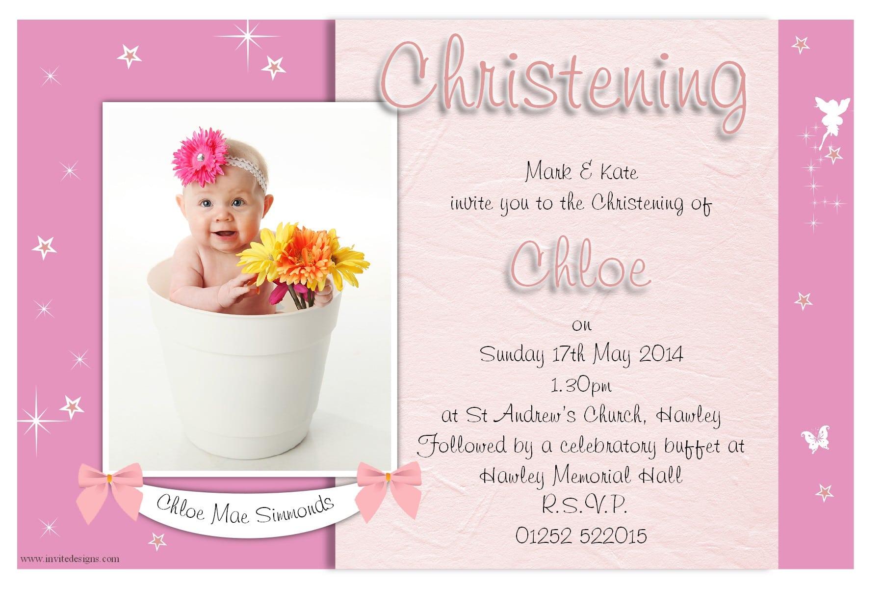 Christening Invitation For Girls 5