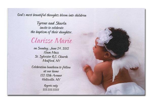 Christening Invitation For Girls