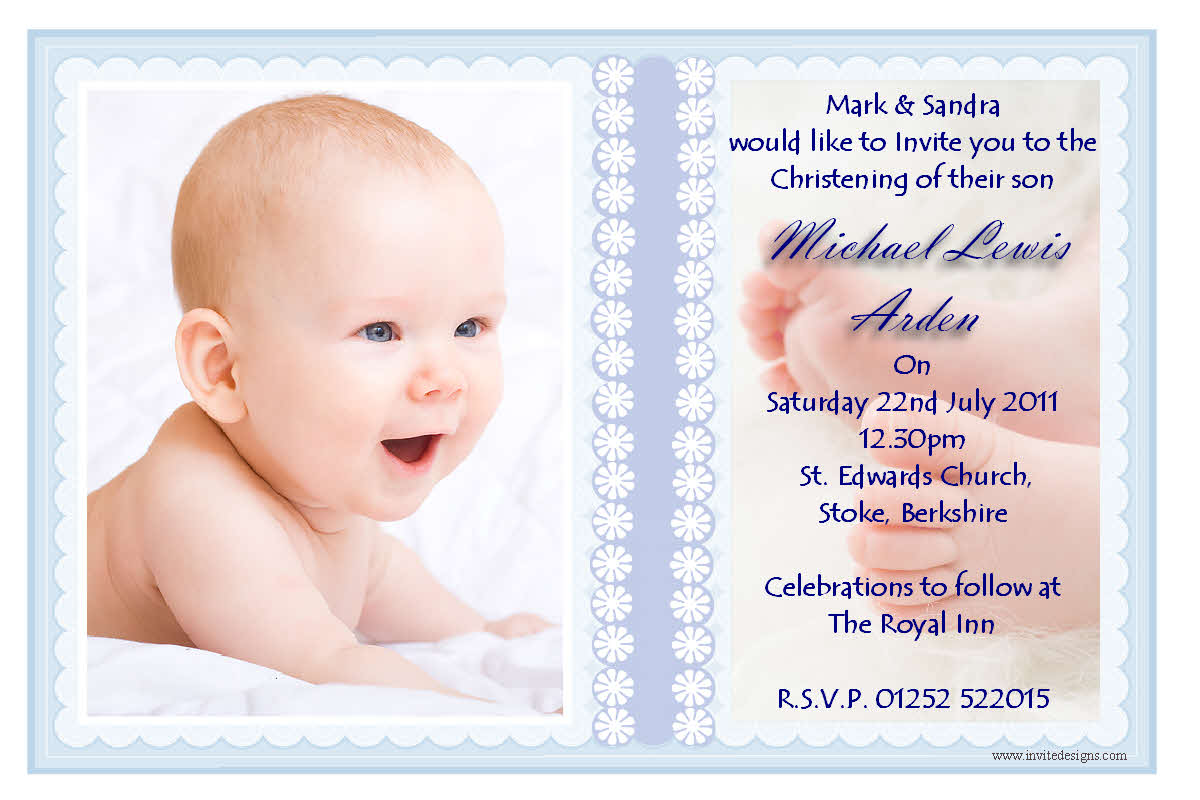 Christening Invitation Sample Wording