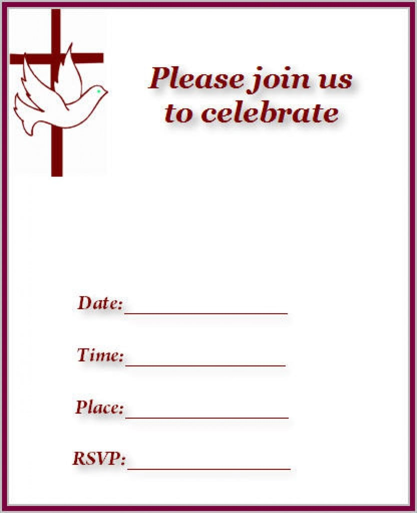 Christening Invitation Template Free Download 5