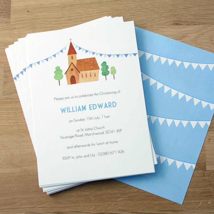 Christening Invitations Boy Uk