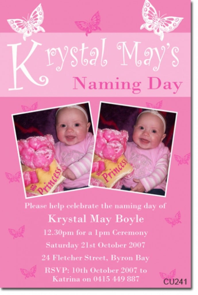Christening Invitations For Girls Template 4