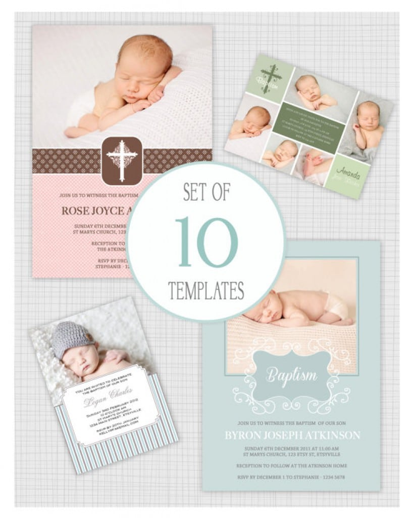 Christening Invitations For Girls Template 5