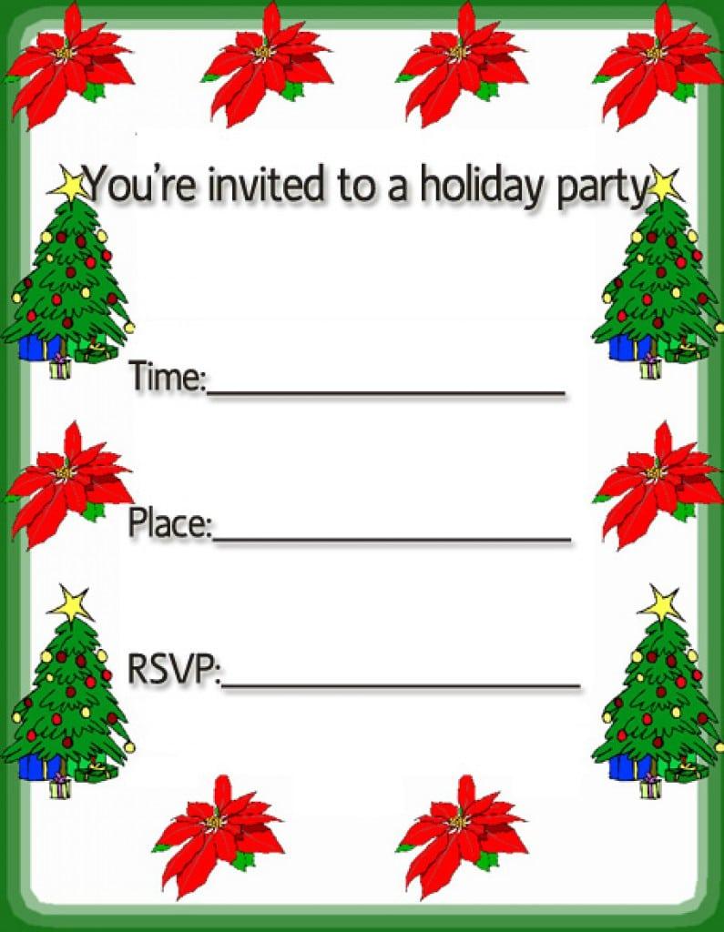 Christmas Invitation Template 3