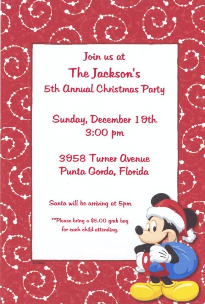 Christmas Invitation Template 4