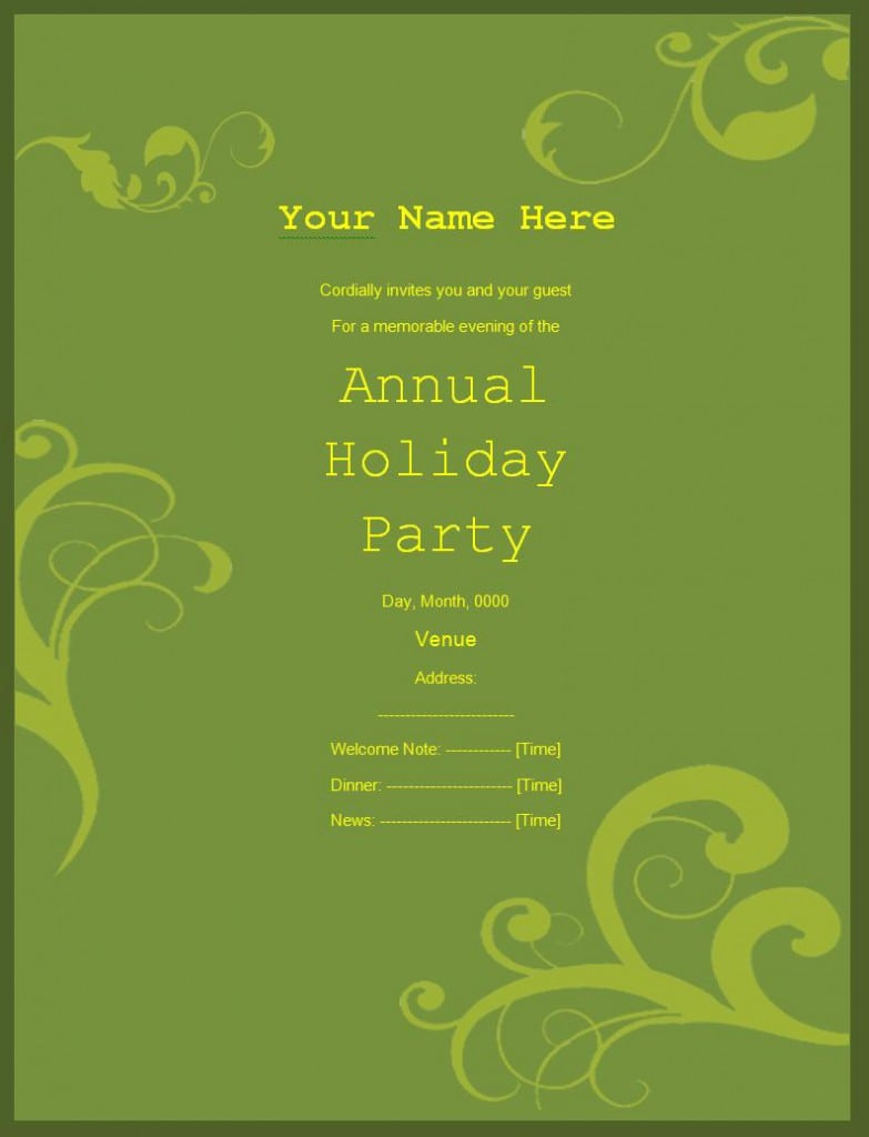 Free Event Invitation Templates For Word Wedding Invitation Sample – Invitation Templates Free Word