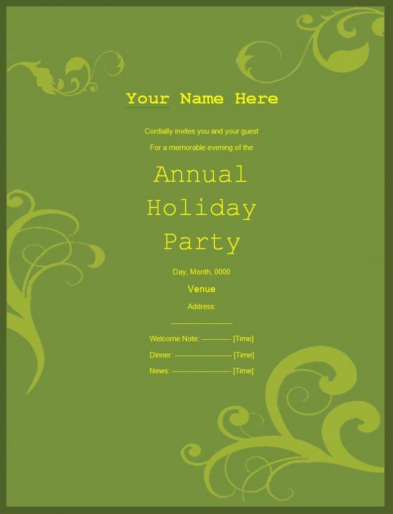 Christmas Invitation Templates Free 4