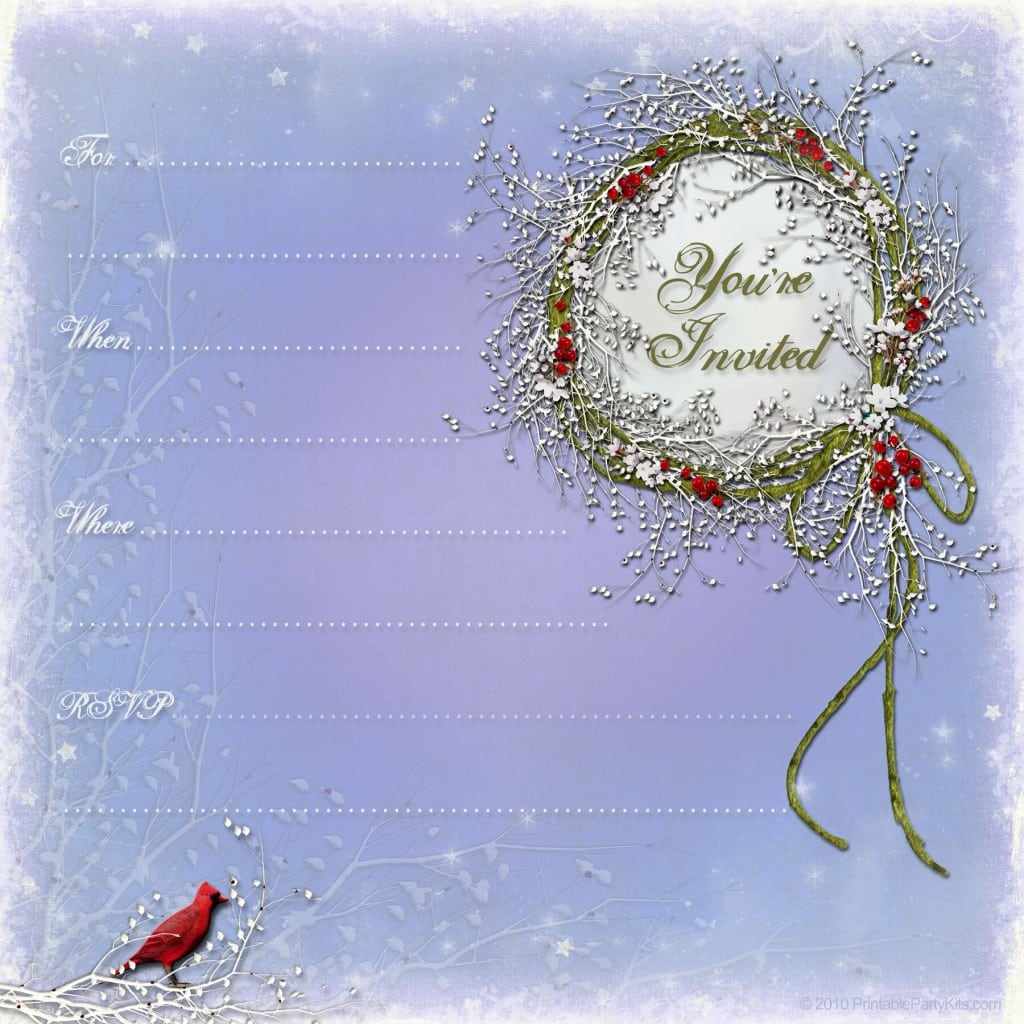 Christmas Invitation Templates Free
