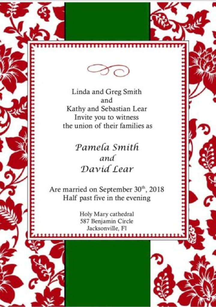 Christmas Invitations Templates Free 2016