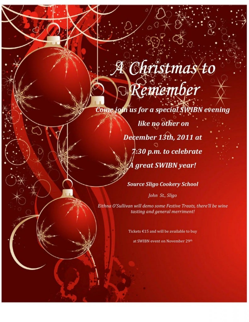 Christmas Invitations Templates Free