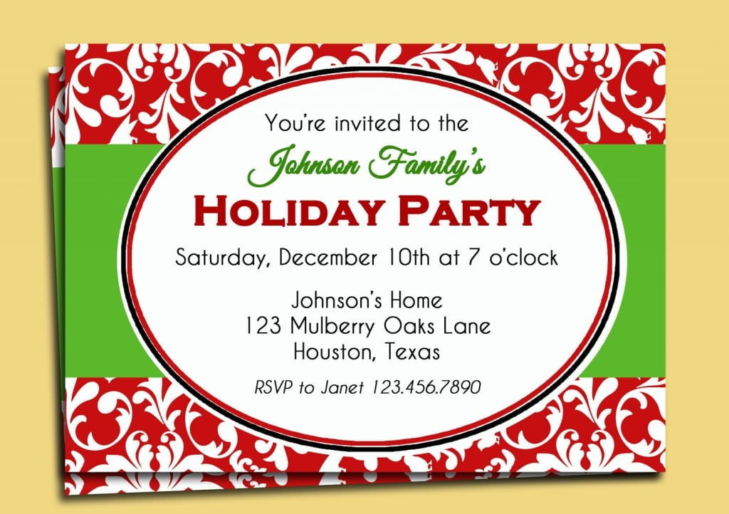 Invites Printable – Christmas Party Email Invitations