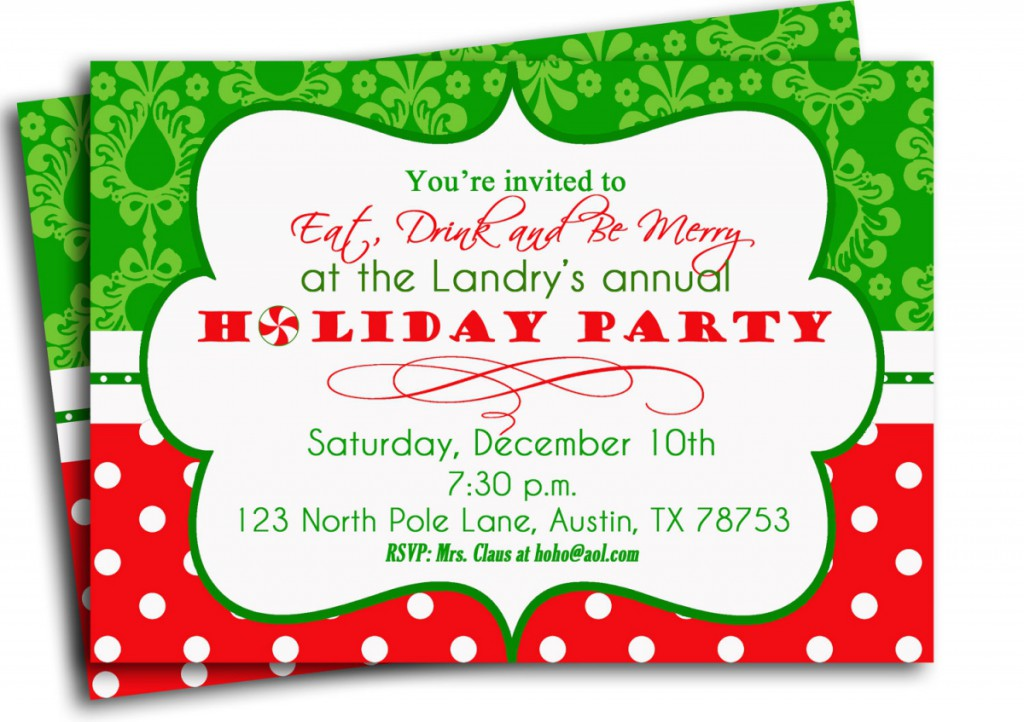 Wording For Christmas Party Invitation Christmas Decor and Lights – Holiday Party Invitation Ideas