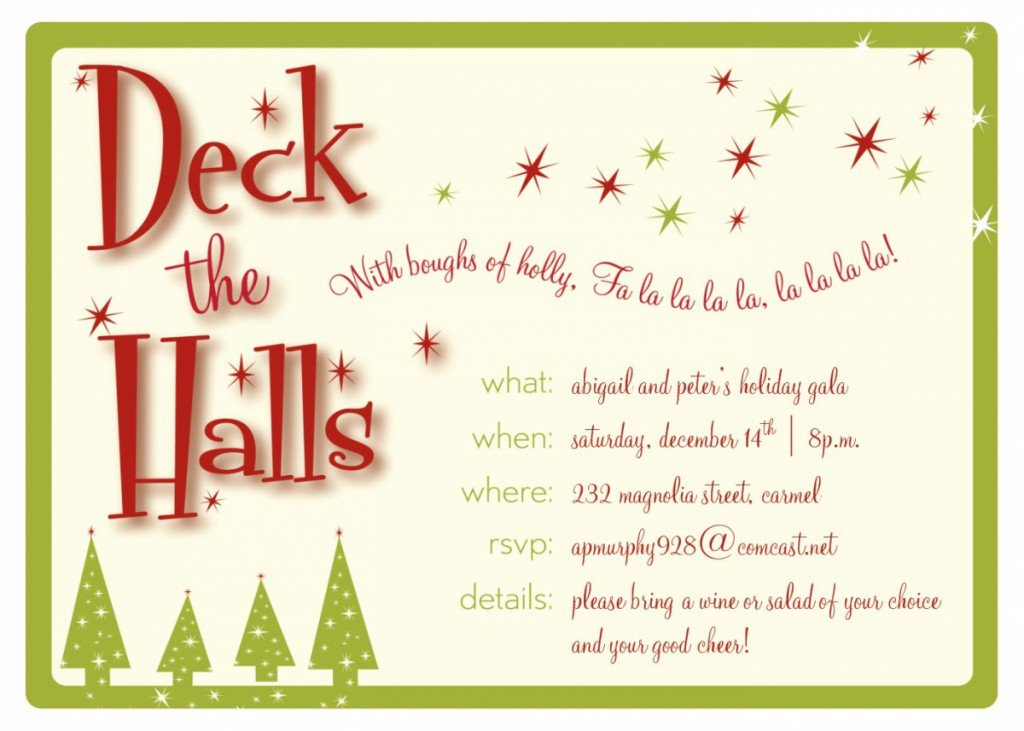 Christmas Party Invitations Template 400 X 285 640 X 457 ...  Free Christmas Invitations Printable Template