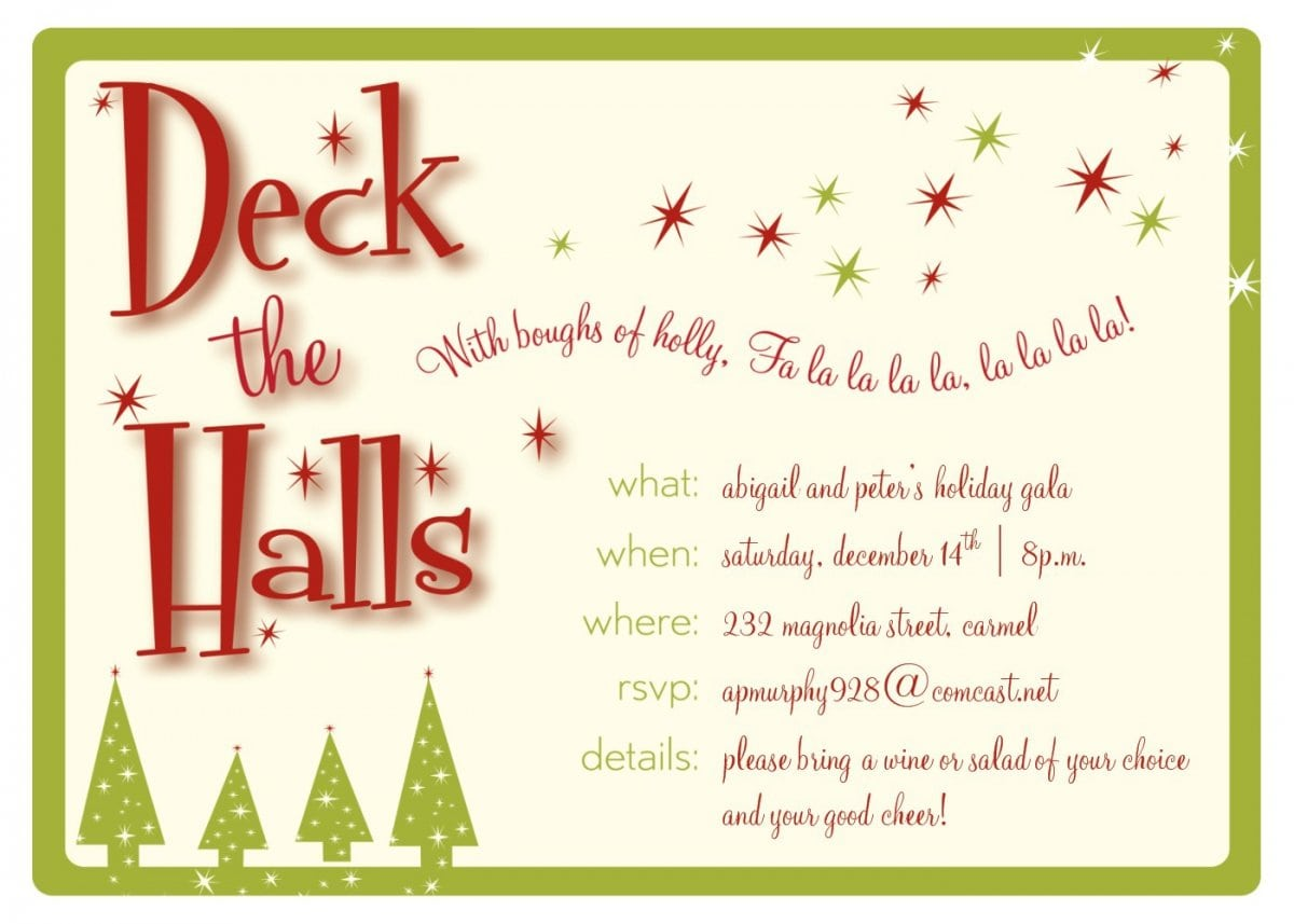 Christmas Party Invitation Template cgQVFN3I