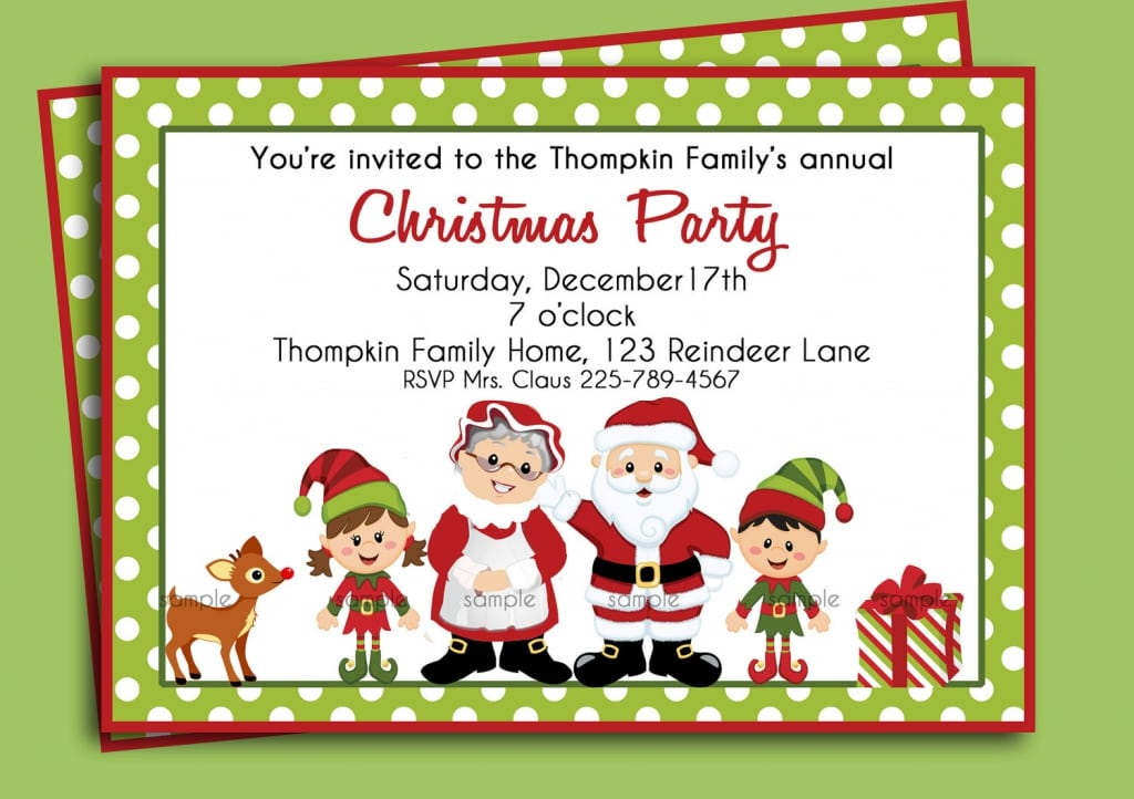 Christmas Party Invites Printable