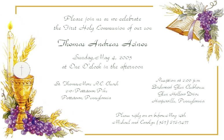 Confirmation Invitations Templates 2