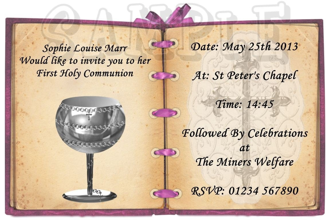 Confirmation Invitations Templates 5