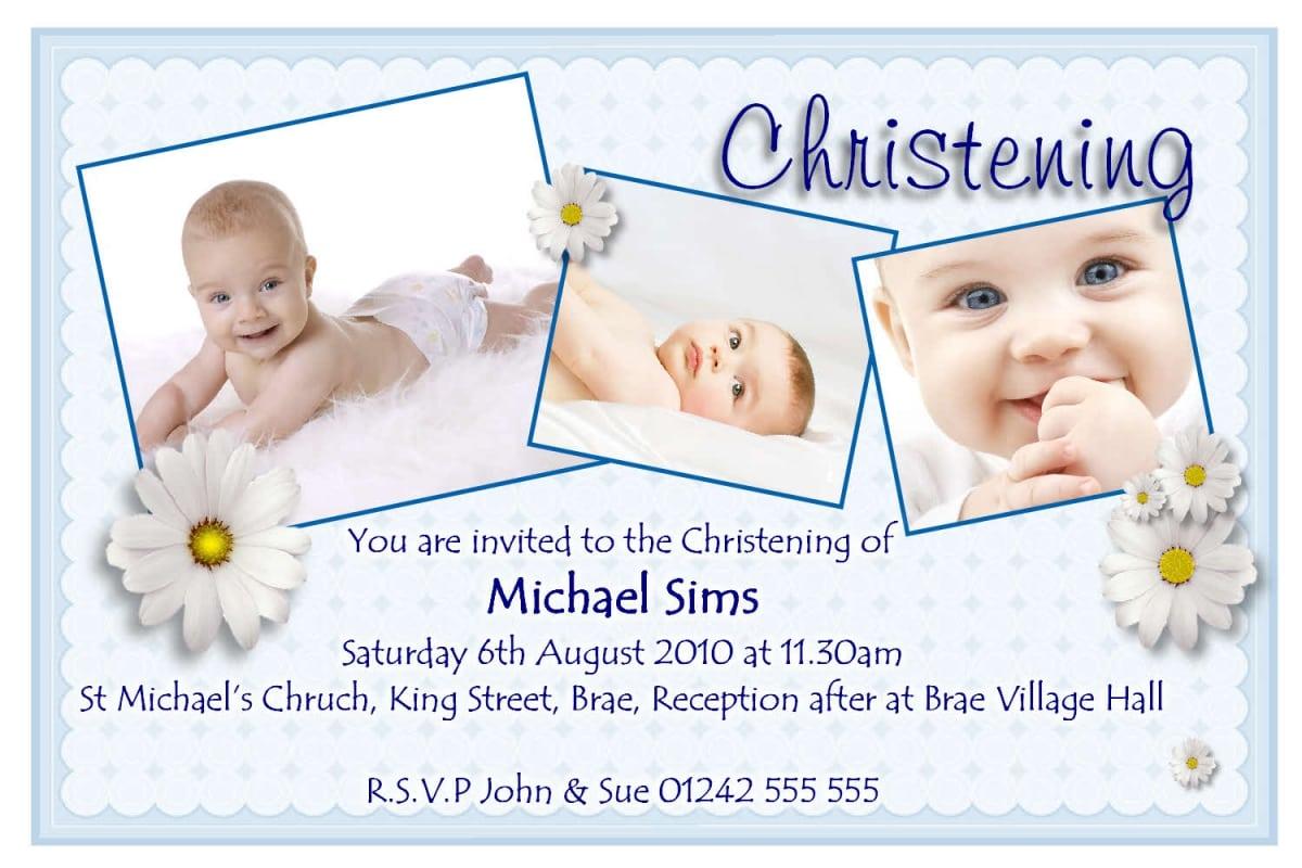 Content Of Baptismal Invitation