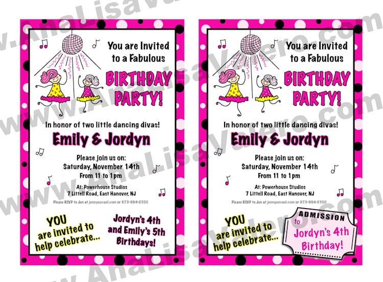 Disco Party Invitations For Kids Free 4