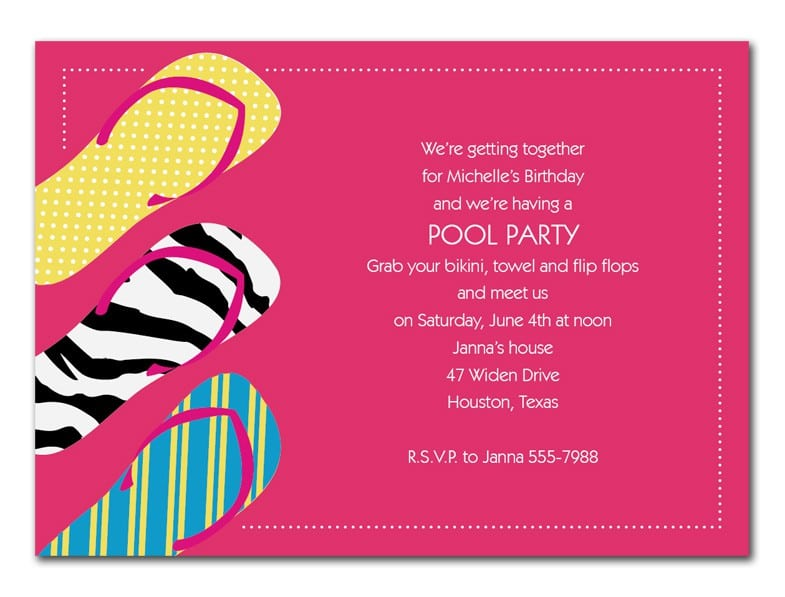 Disco Party Ticket Invitations Template 2