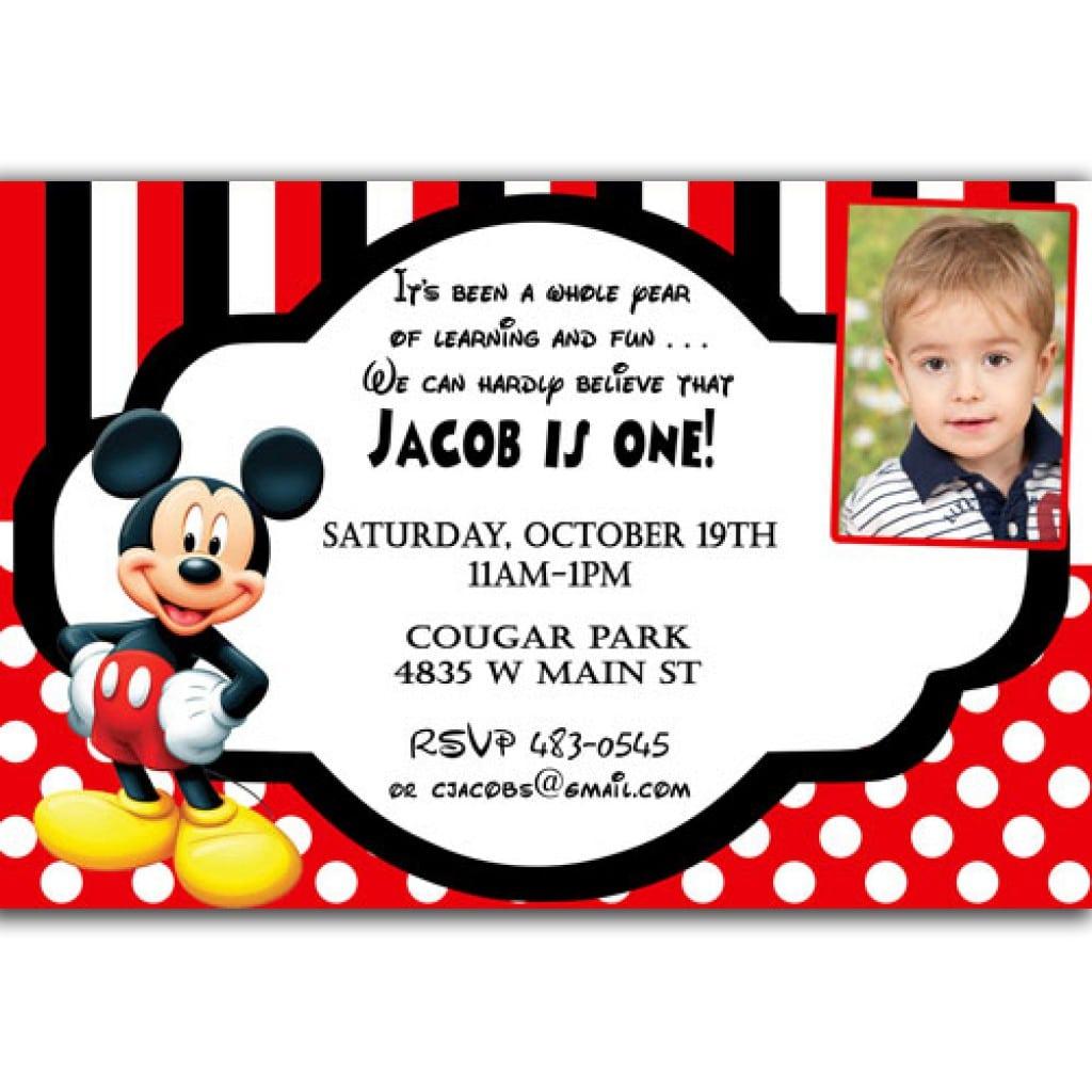Disney Baby Mickey Mouse Invitations Christening 4