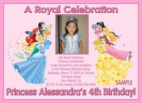 Disney Birthday Invitation Sample 3