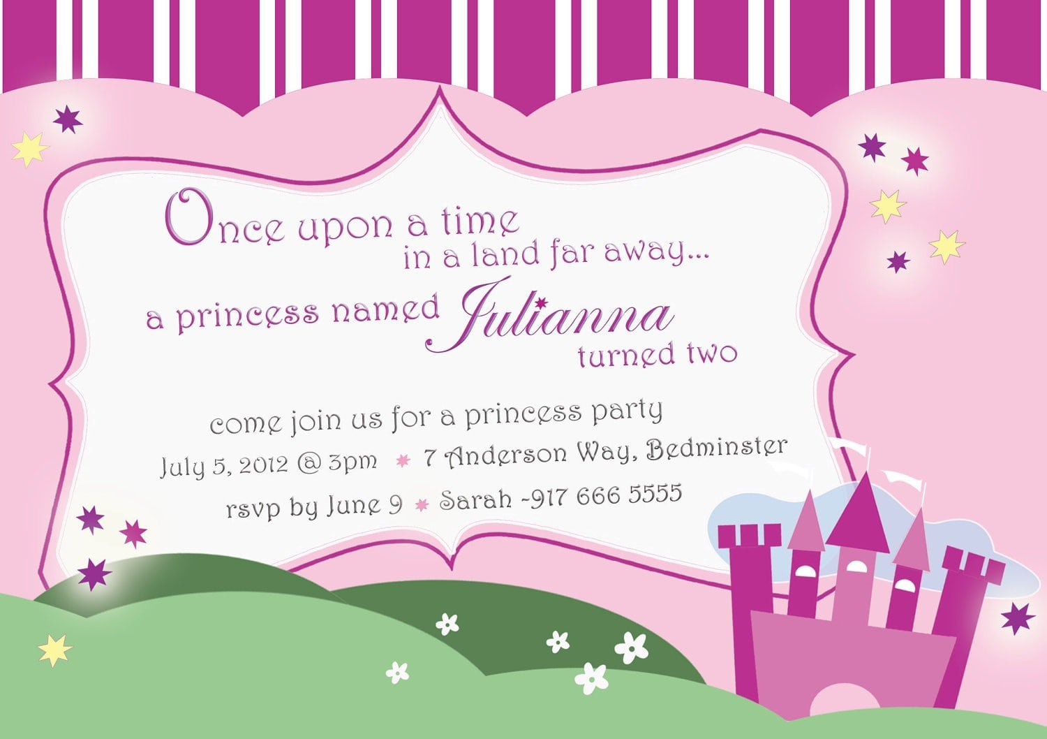 Disney princess birthday invitation eczalinf disney princess birthday invitation filmwisefo